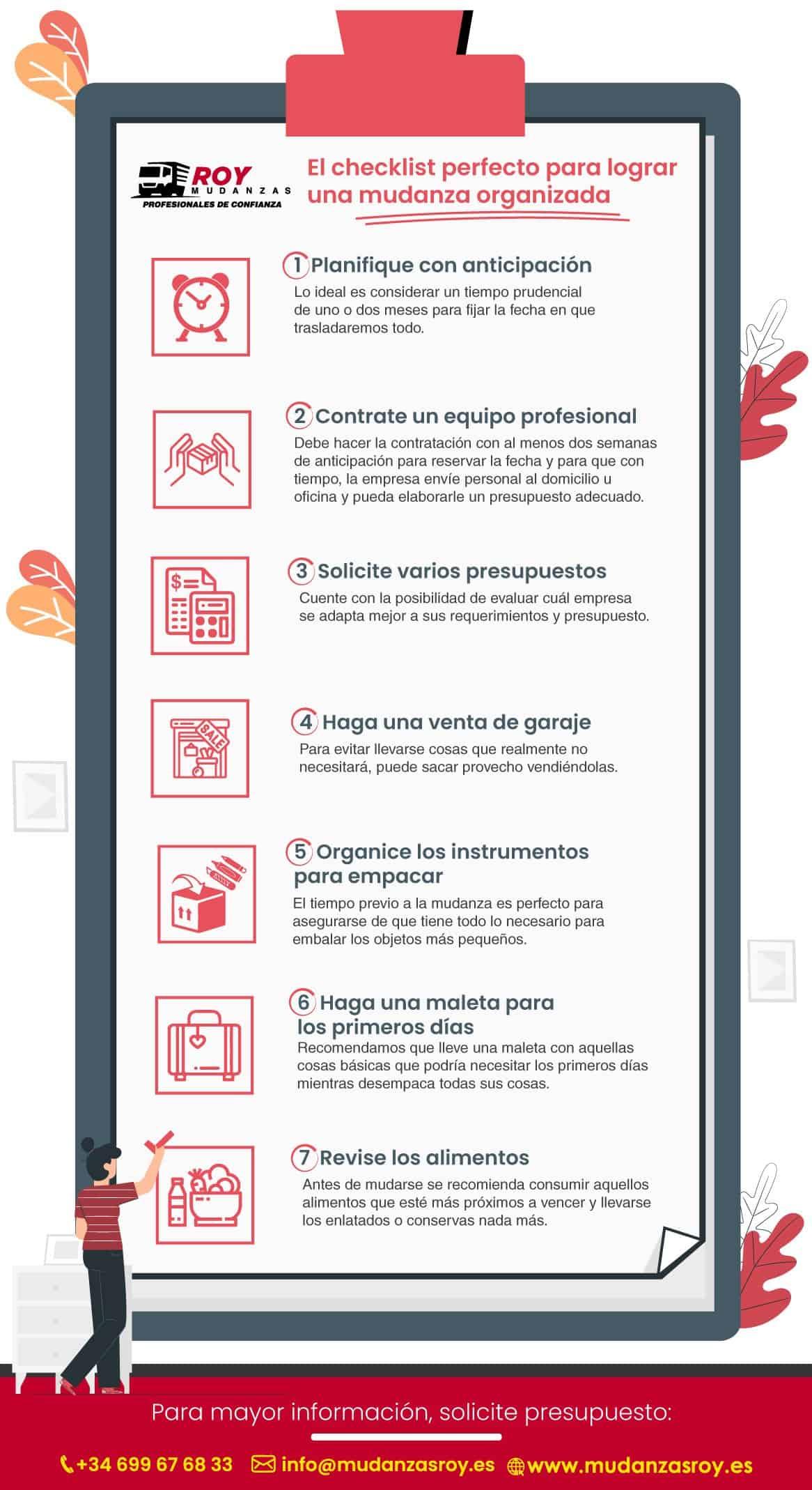 checklist para mudanza organizada